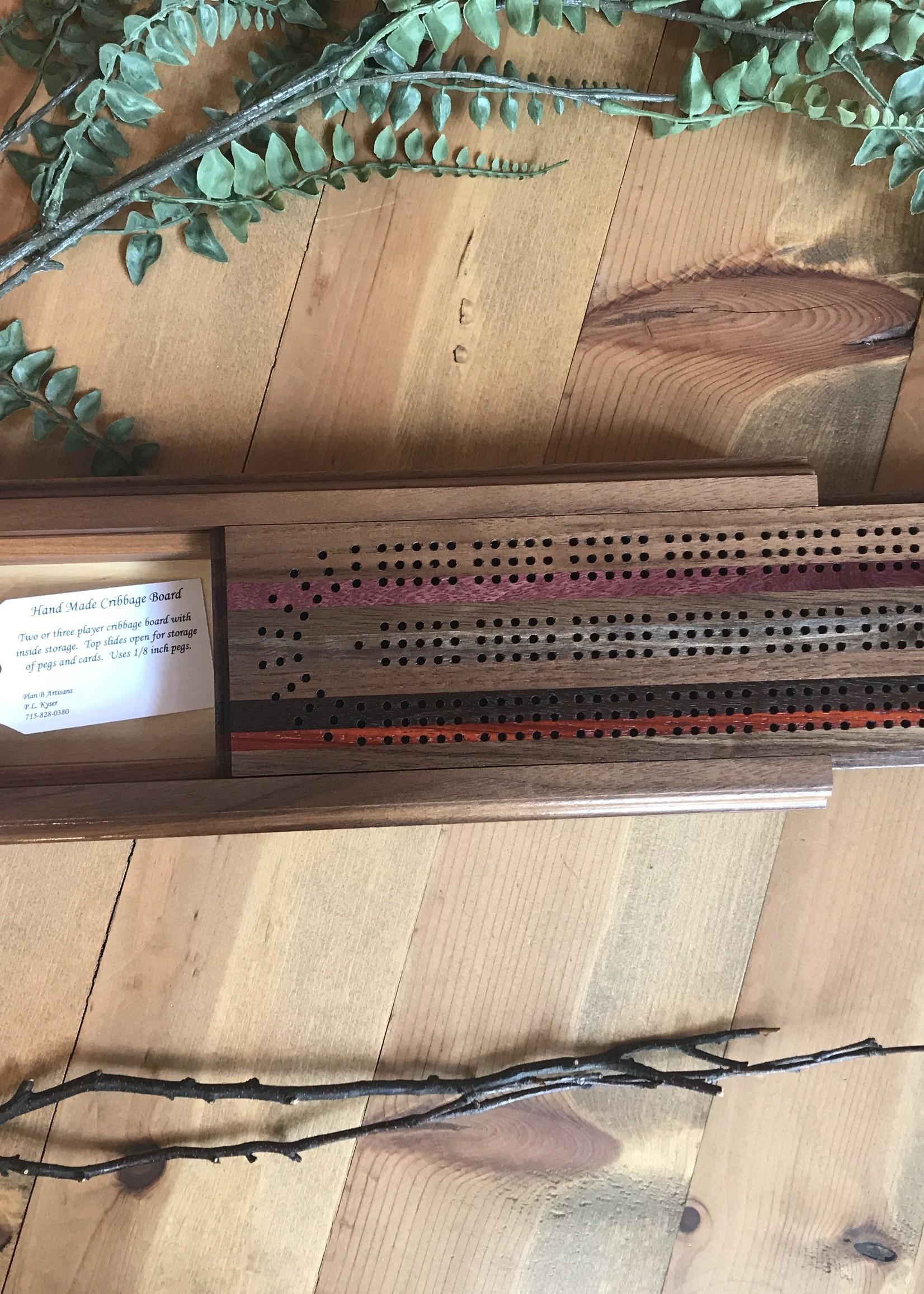 Plan B Artisans Cribbage Board
