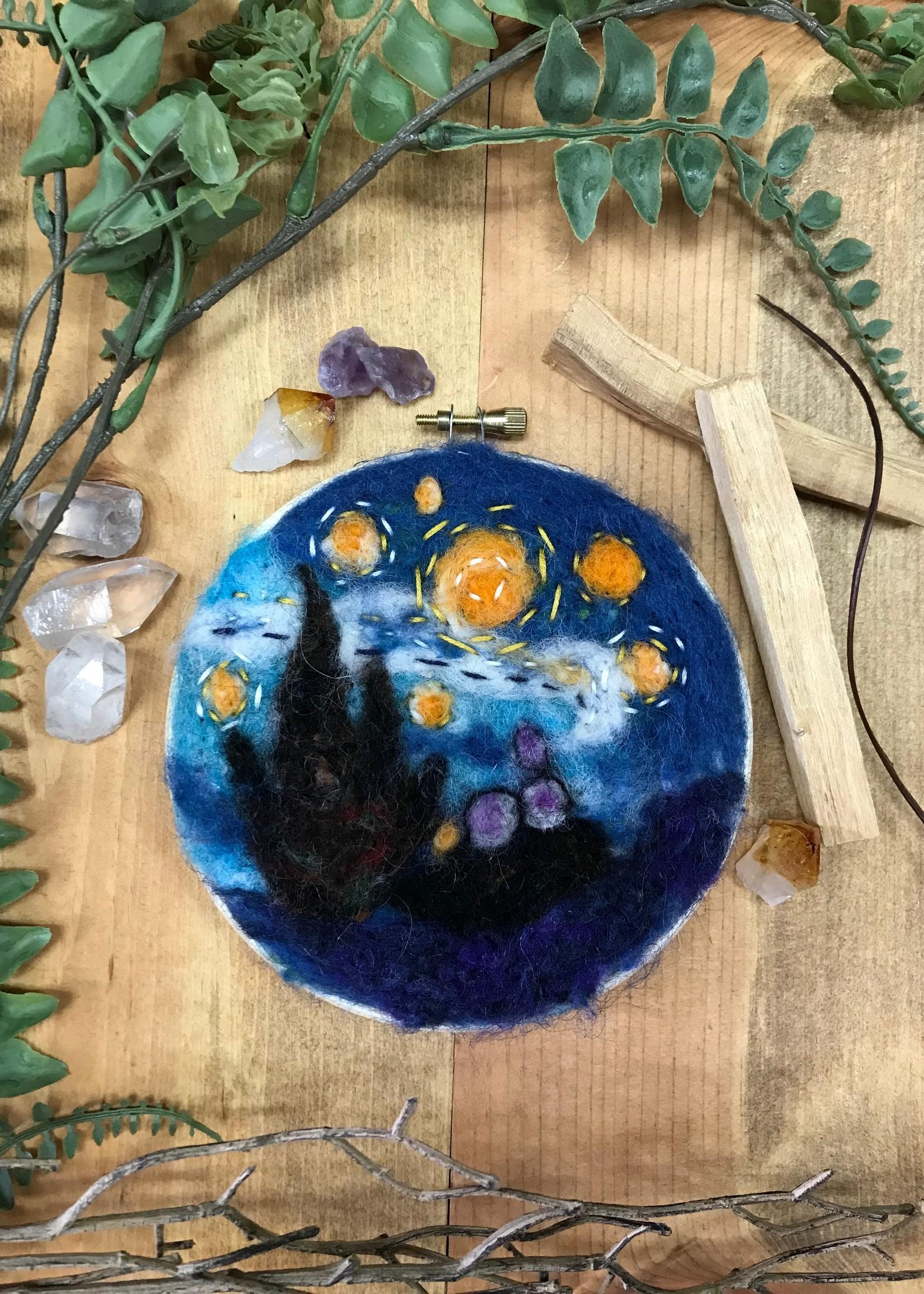 Starry Night Needle Felt Kit