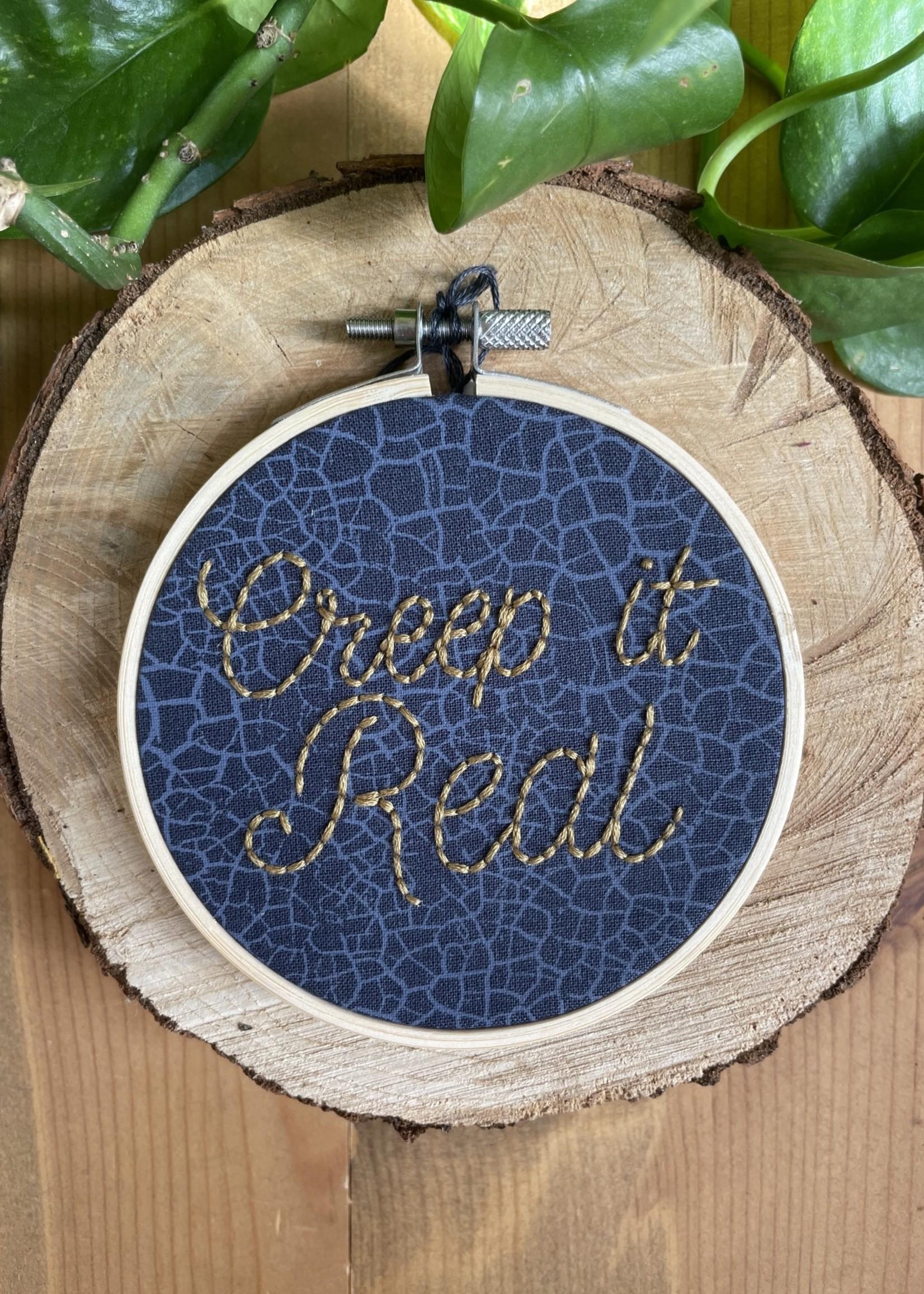 "sarcastitchery Sarcastitchery 4"" Embroidered Hoop"
