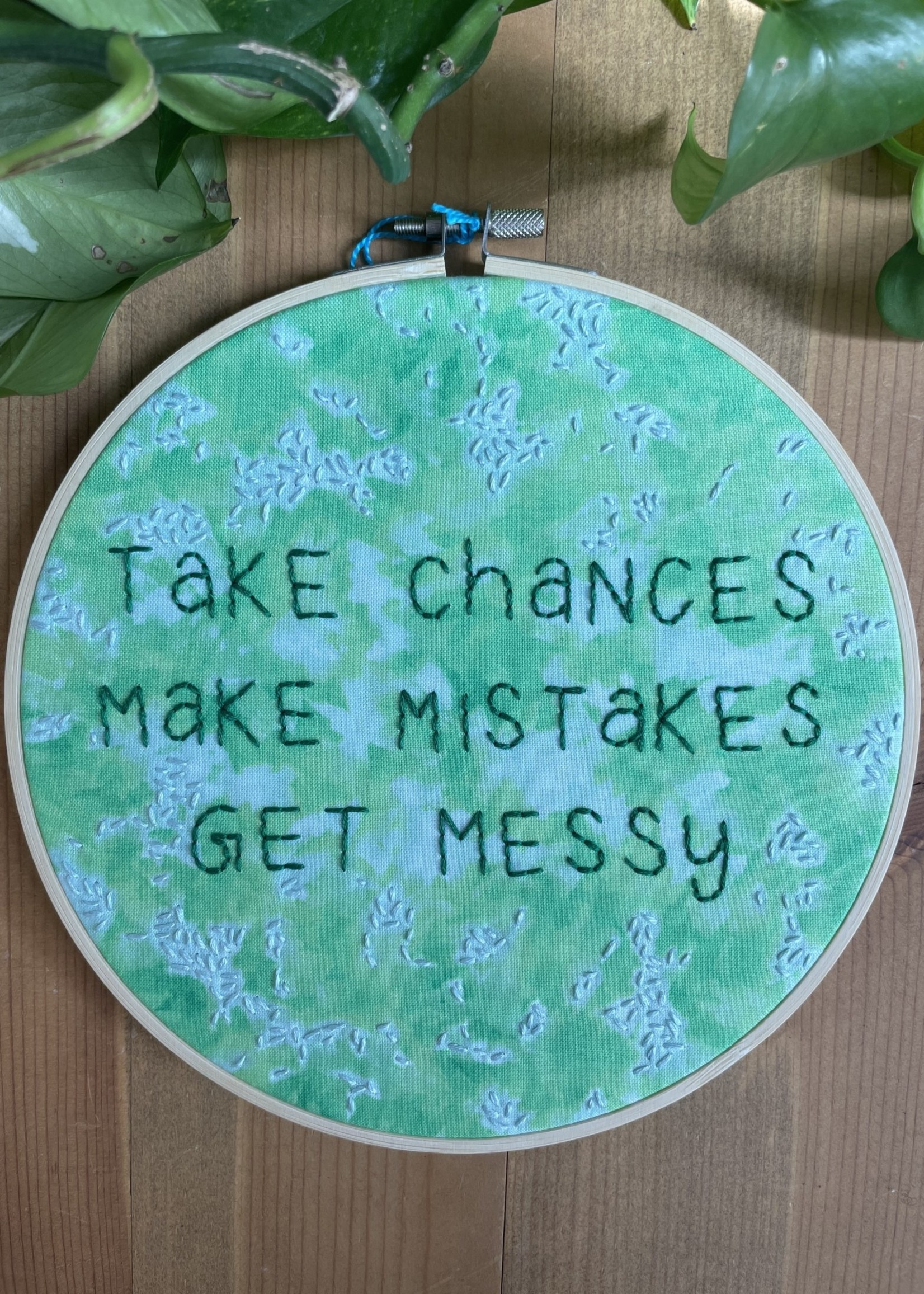 "sarcastitchery Sarcastitchery 8"" Embroidered Hoop"