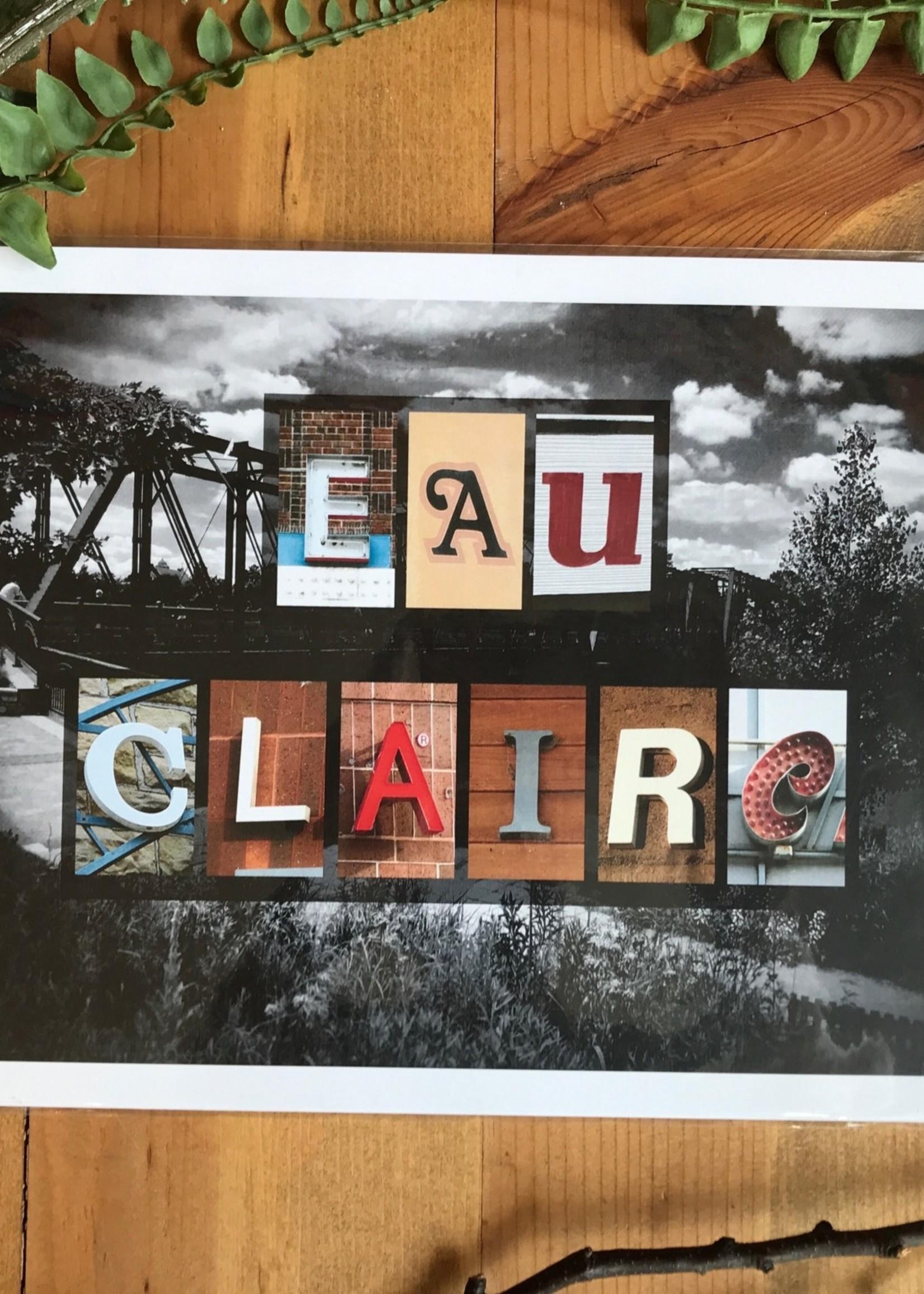 Eau Claire Local Letters Art Print