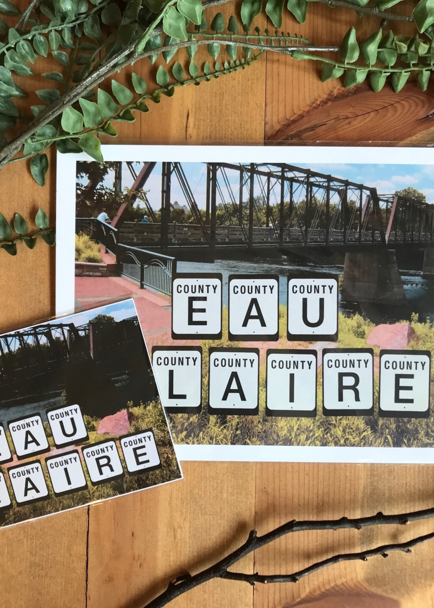 Eau Claire County Highway Signs Art Print