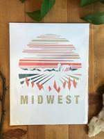 Midwest White Art Print