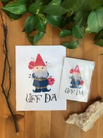 Uff Da Gnome Art Print