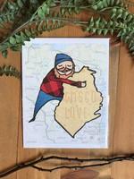 Wisco Love Lumberjack Art Print