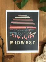 Midwest Black Art Print