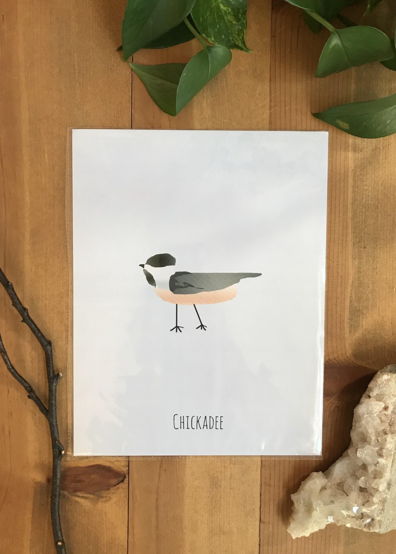 For Simplicities Sake Chickadee Print