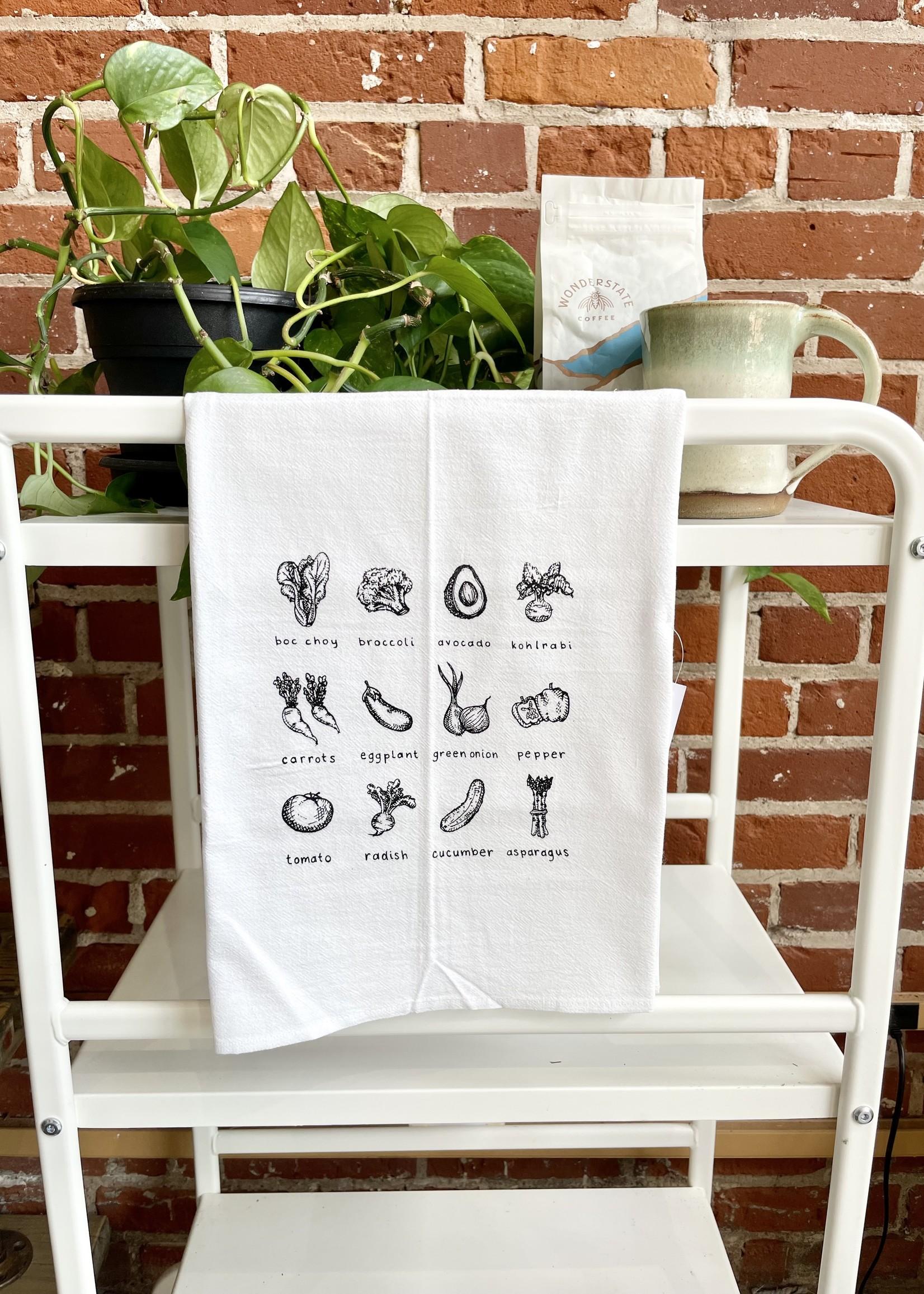 Screen Printed Dish Towel Veggie Lover