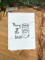 Screen Printed Dish Towel Pump Up the Jam