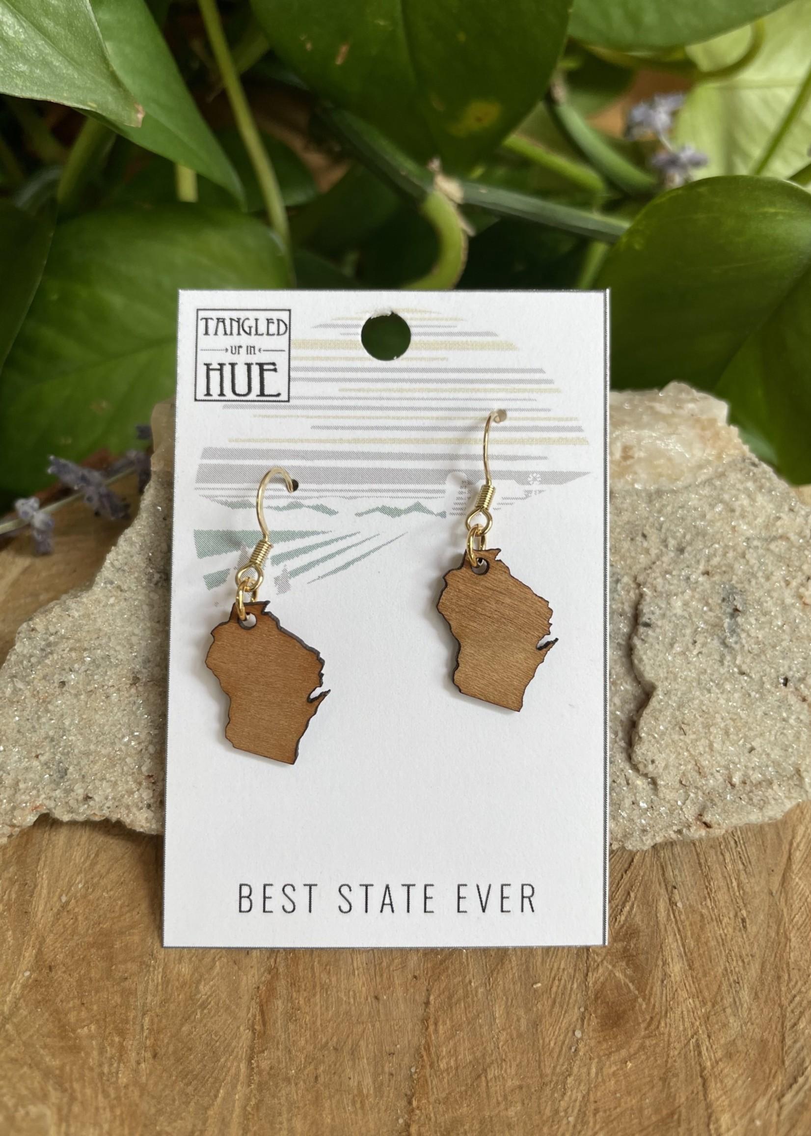 Best State Wisconsin Dangle Earrings