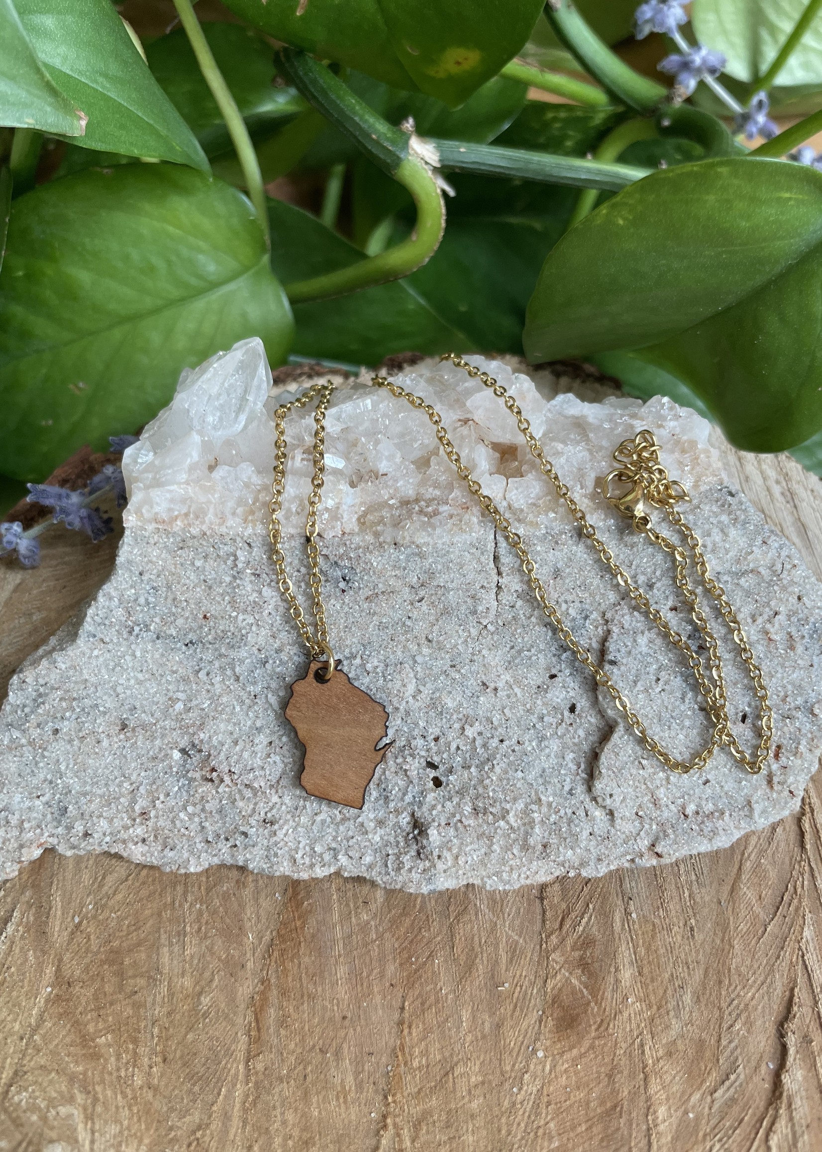 Best State Wisconsin Necklace
