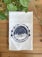 Screen Printed Dish Towel -  Moon Over Midwest
