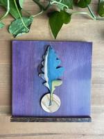 Oak Leaf Wood Art