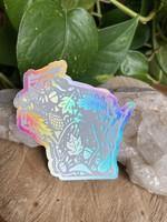 Sticker - WI Nature White Holographic