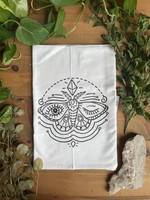 Screen Printed Dish Towel Winking Moth