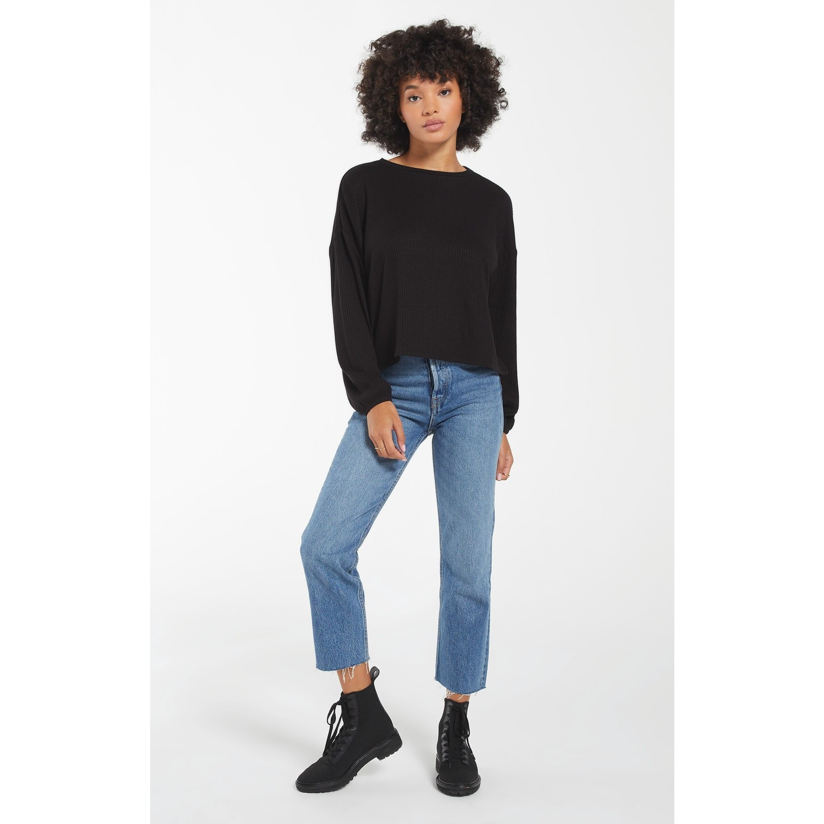 Z Supply Annie Ribbed Long Sleeve Top