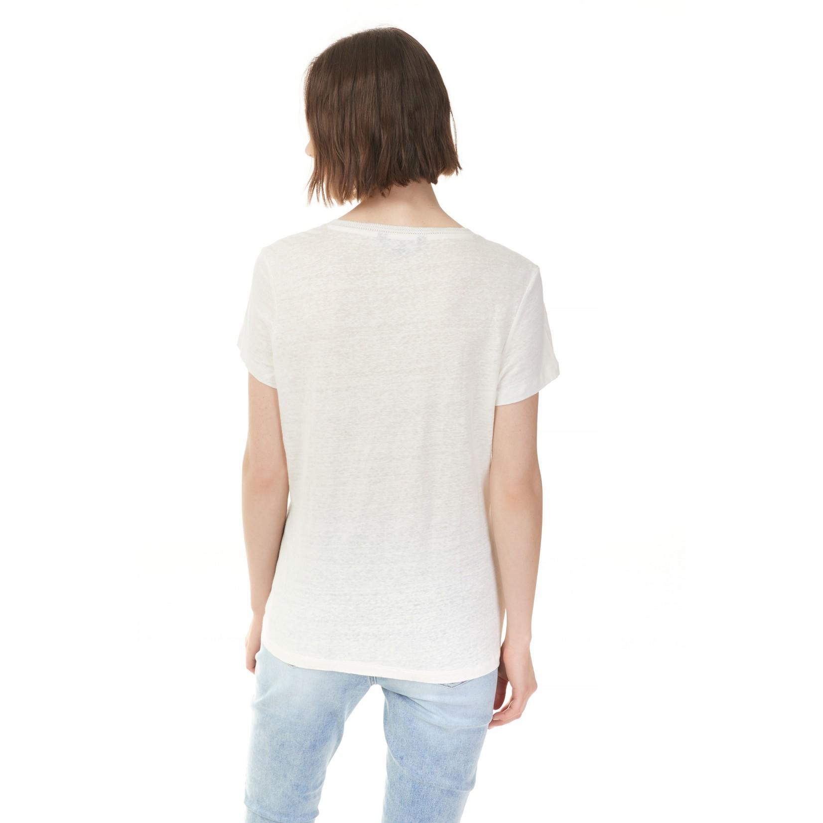 Charlie B Short Sleeve Linen Top