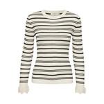 Cream Sandy Rib Pullover
