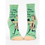 Blue Q Long Walks Library Ankle Sock