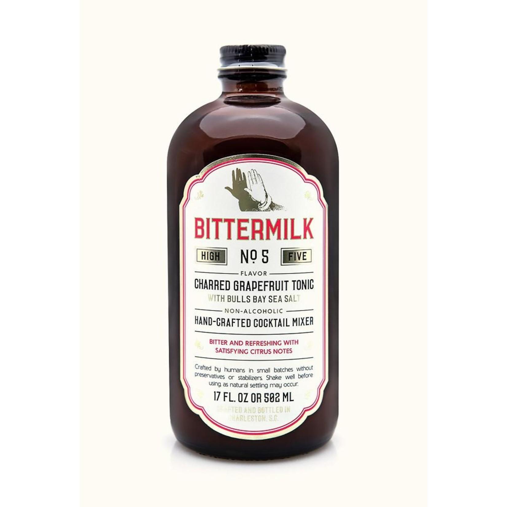Bittermilk No.5 - Charred Grapefruit Tonic with Bulls Bay Sea Salt