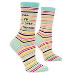 Blue Q Shhh I'm Overthinking W - Crew Socks