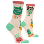 Blue Q Proud Plant Mom W - Crew Socks