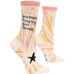 Blue Q Mother F*cking Girl Power W - Crew Socks