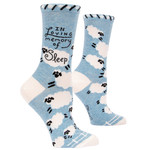 Blue Q In Loving Memory Sleep W - Crew Socks