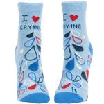 Blue Q I Heart Crying W - Ankle Socks