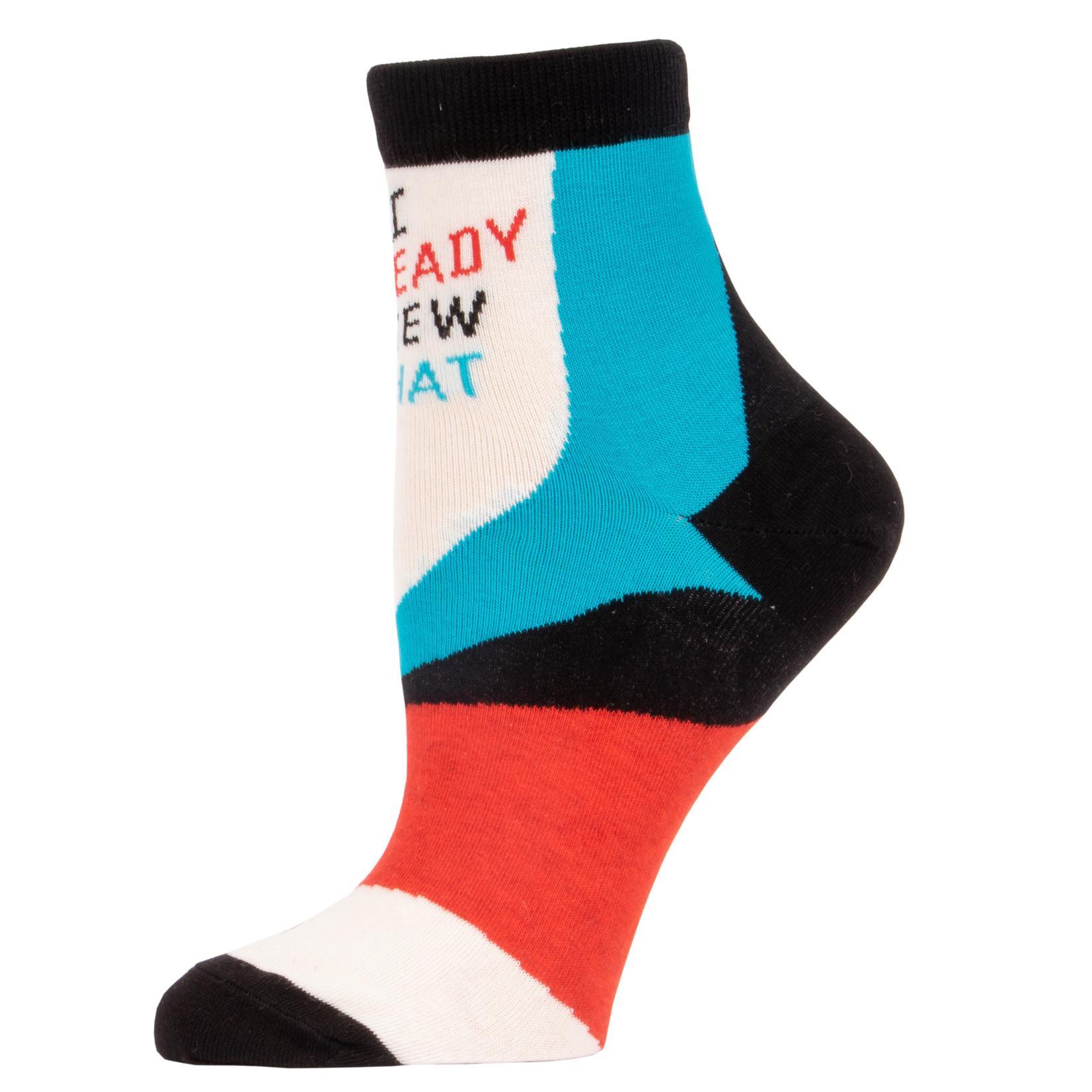 Blue Q I Already Knew That W - Ankle Socks