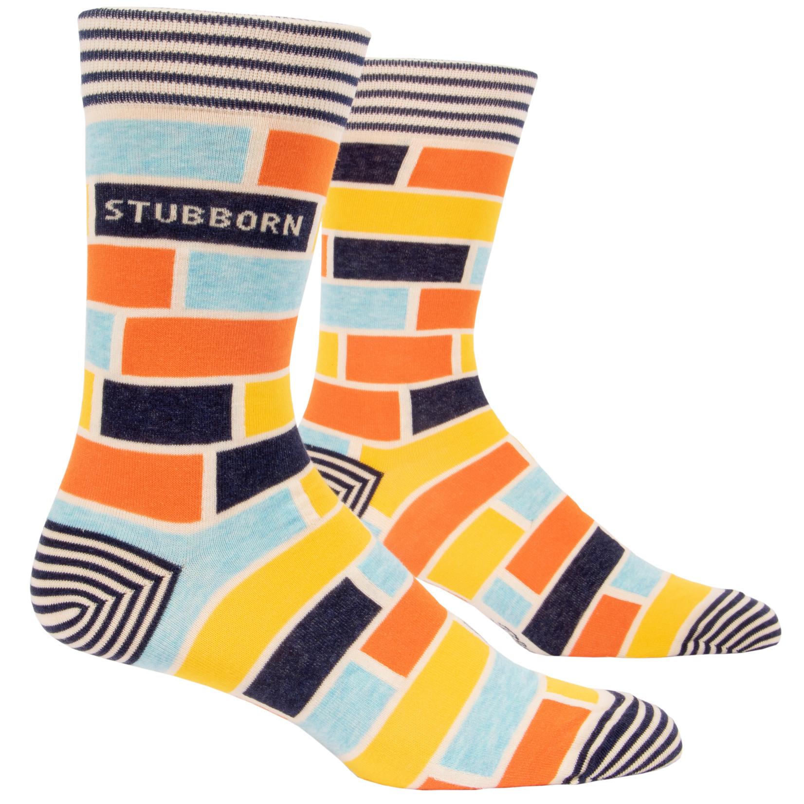 Blue Q Stubborn M - Crew Socks