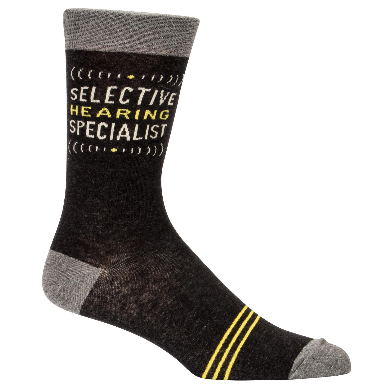 Blue Q Selective Hearing M - Crew Socks