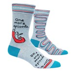 Blue Q One More Episode M - Crew Socks