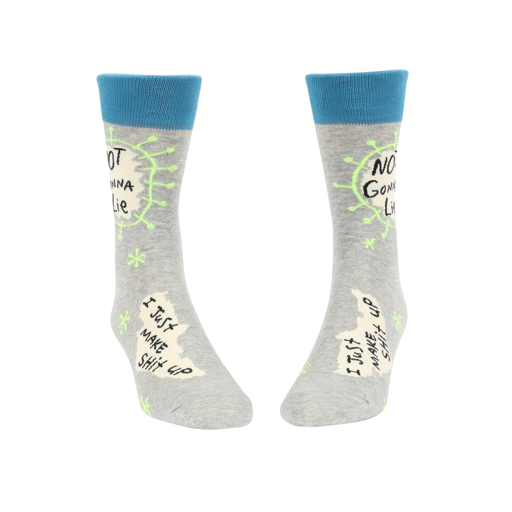 Blue Q Not Gonna Lie M - Crew Socks