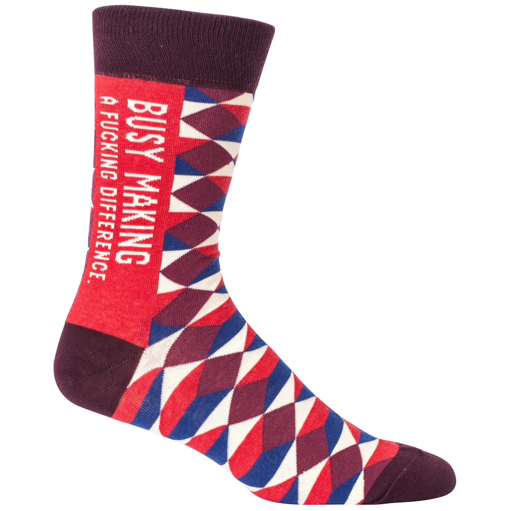 Blue Q Busy Making A F*cking Difference M - Crew Socks