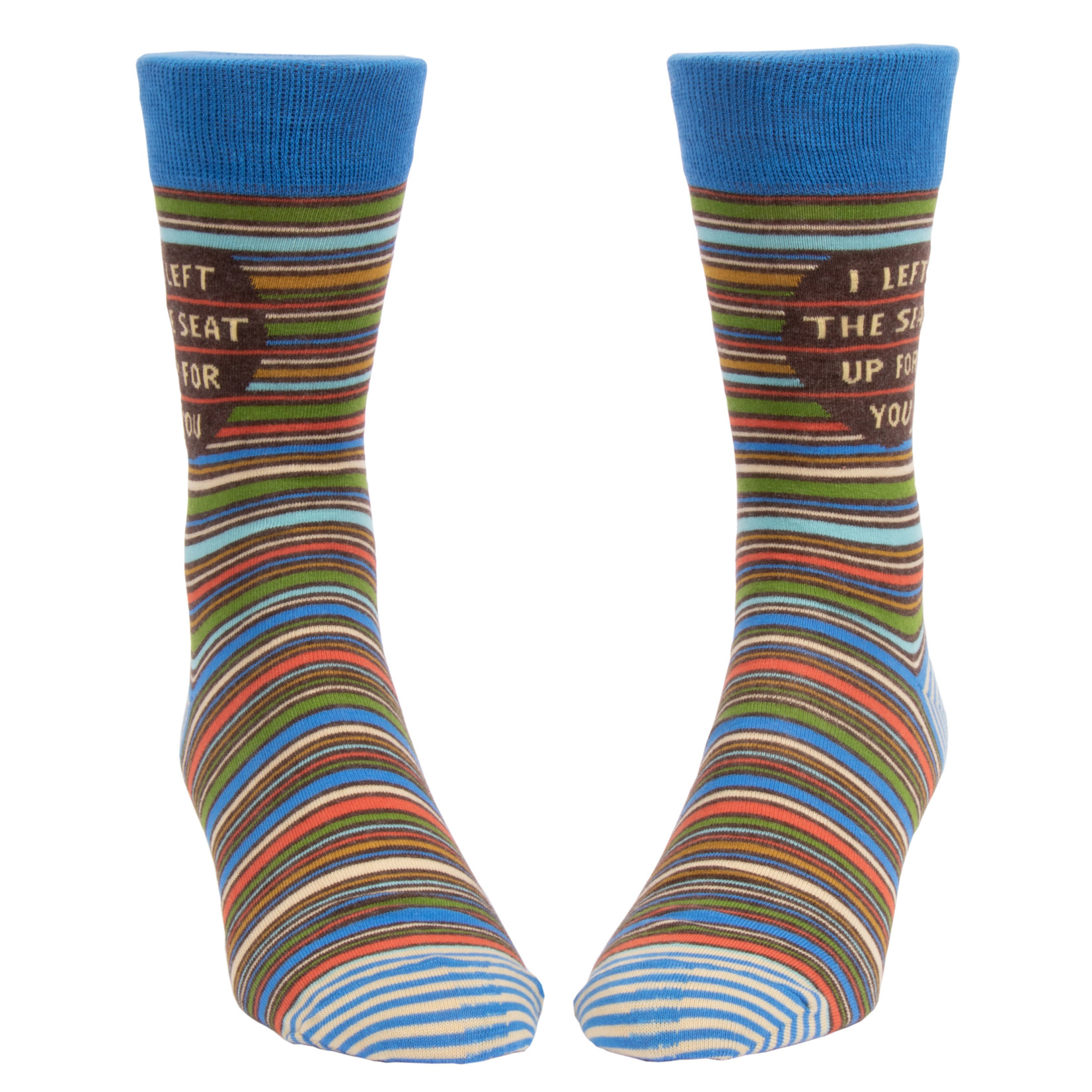 Blue Q I Left The Seat Up  For You M - Crew Socks