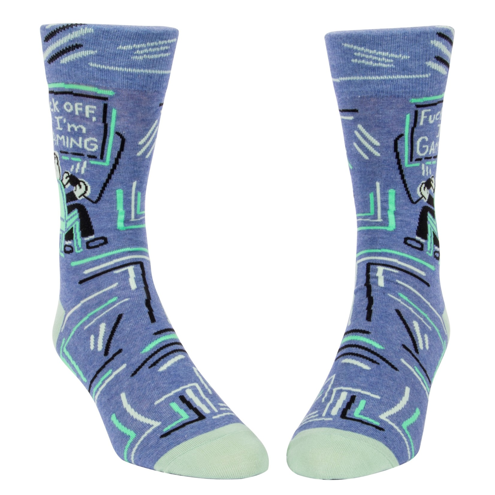 Blue Q F*ck Off I'm Gaming M - Crew Socks