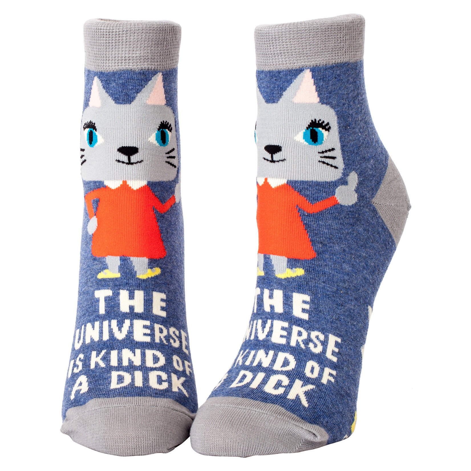 Blue Q Universe Is A Dick W - Ankle Sock
