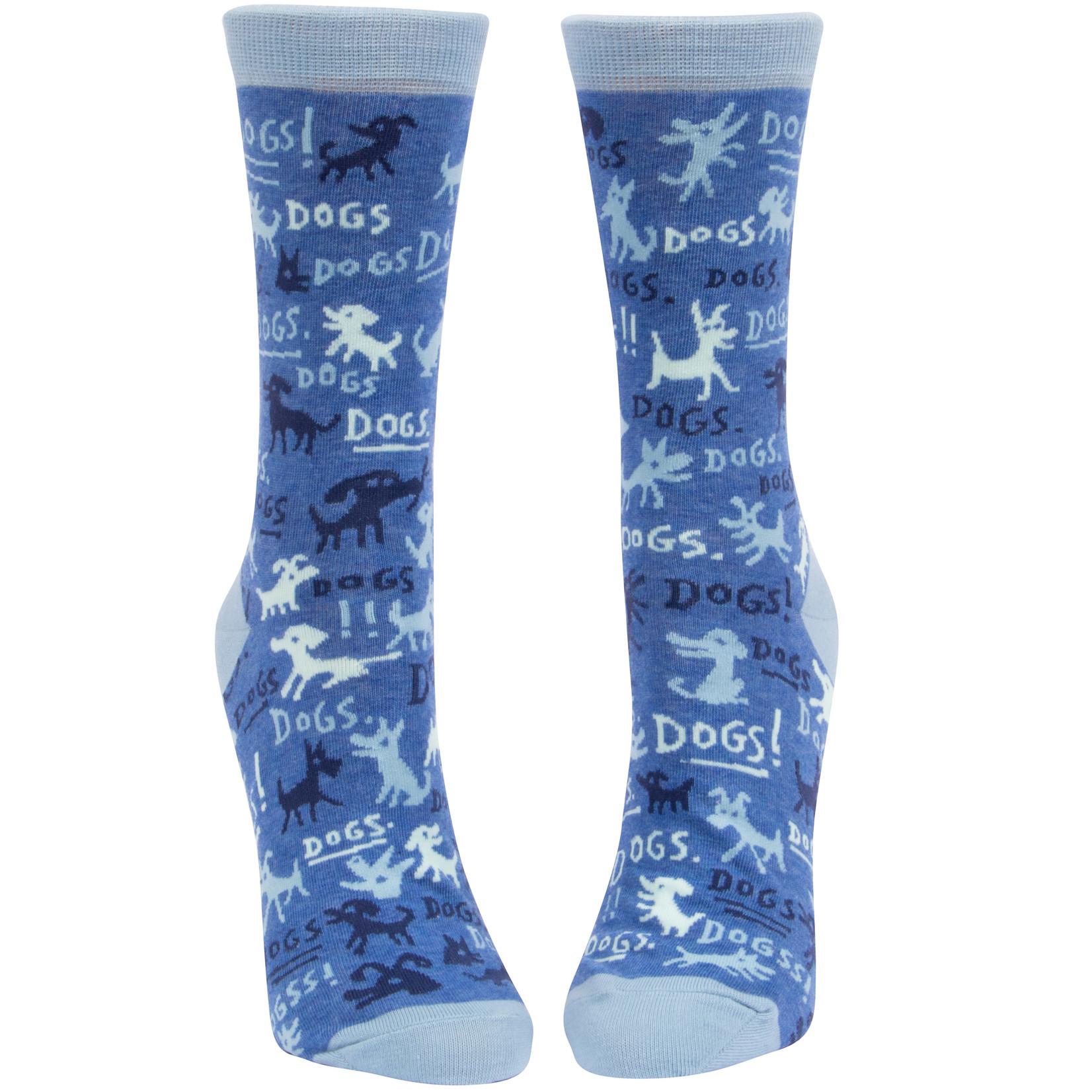 Blue Q Dogs! W - Crew Socks