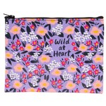 Blue Q Wild At Heart Zipper Pouch