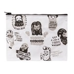 Blue Q Beards Zipper Pouch