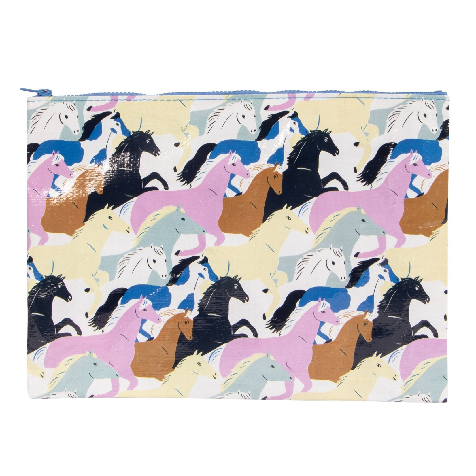 Blue Q Wild Horses Jumbo Pouch