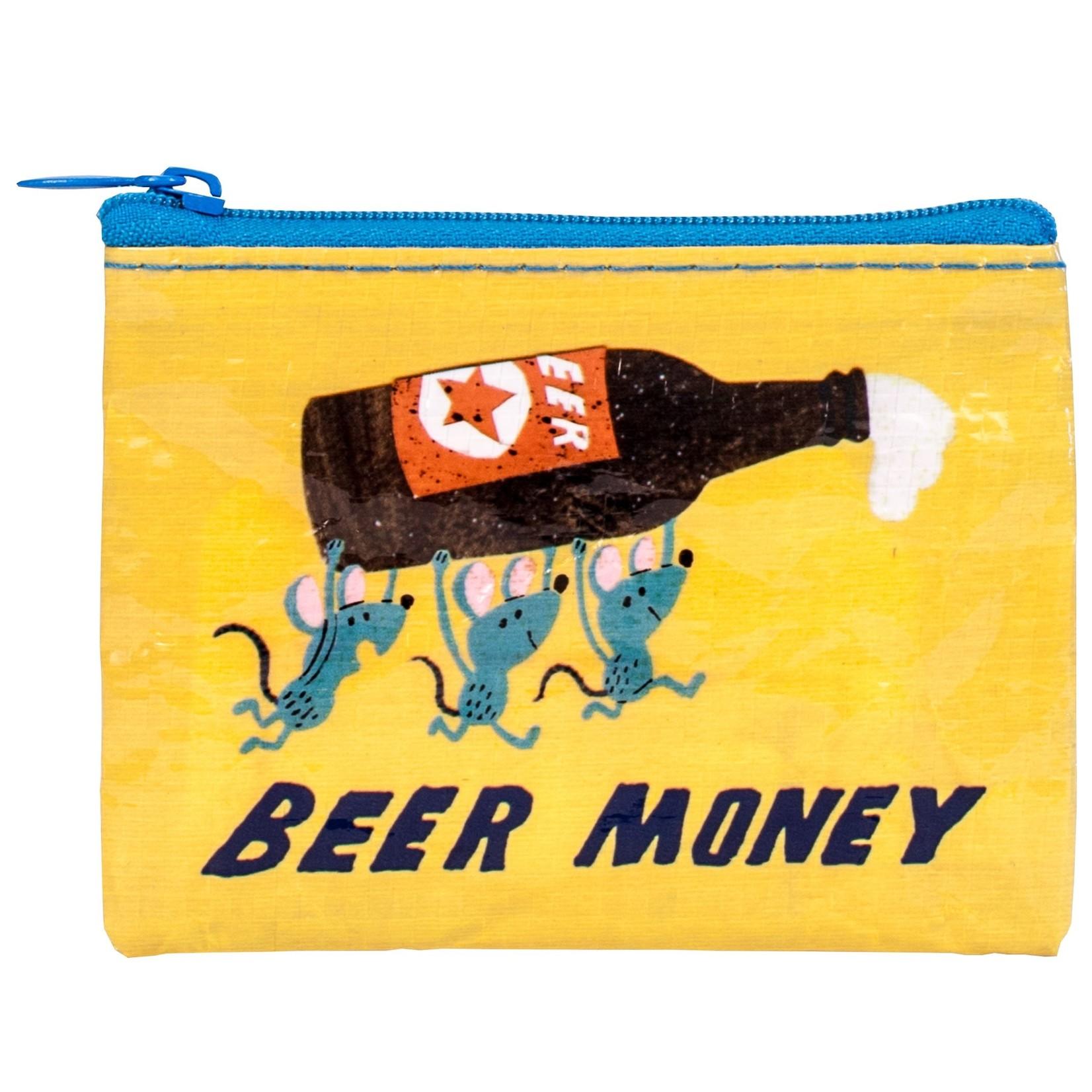 Blue Q Beer Money Coin Purse