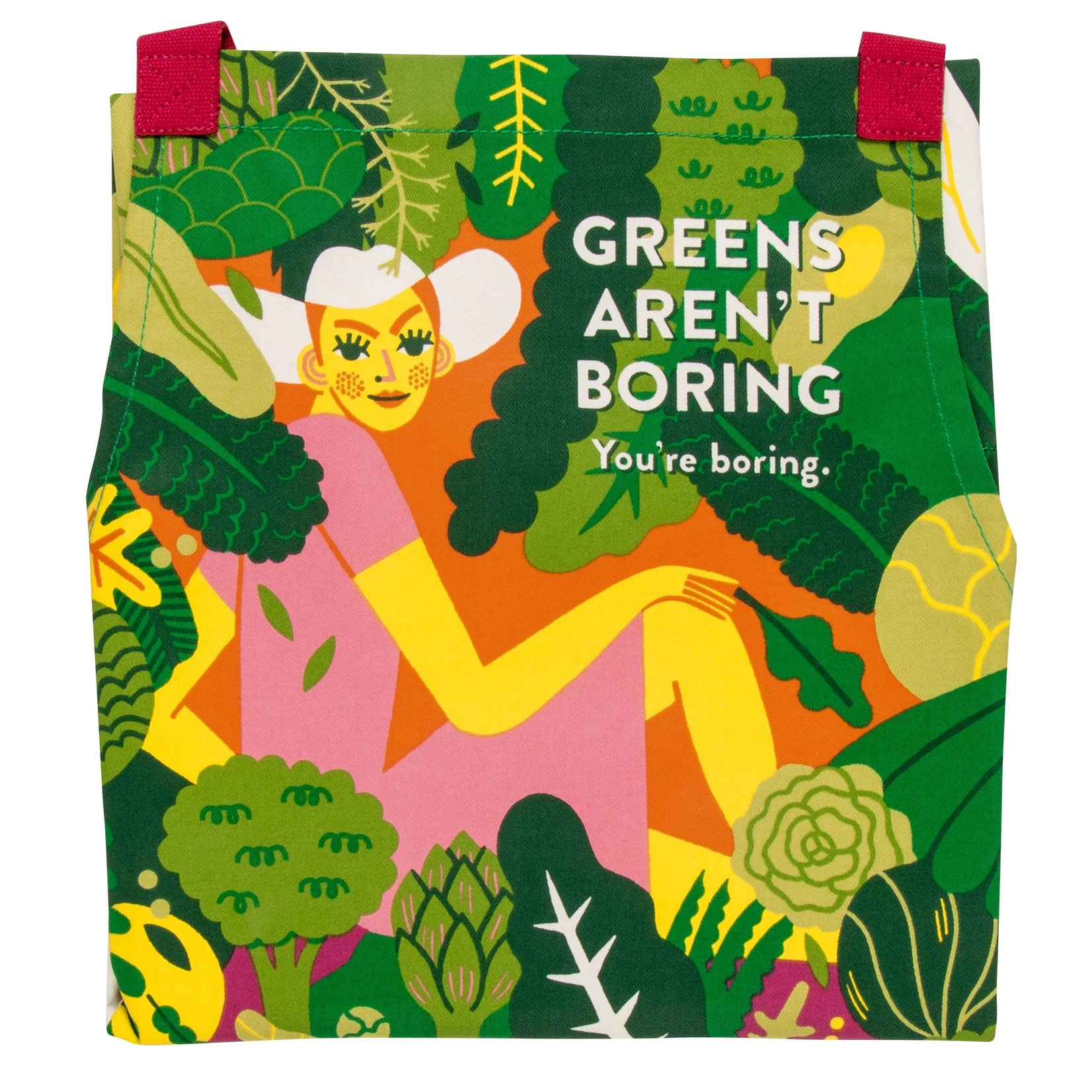 Blue Q Greens Aren't Boring, You're Boring Apron