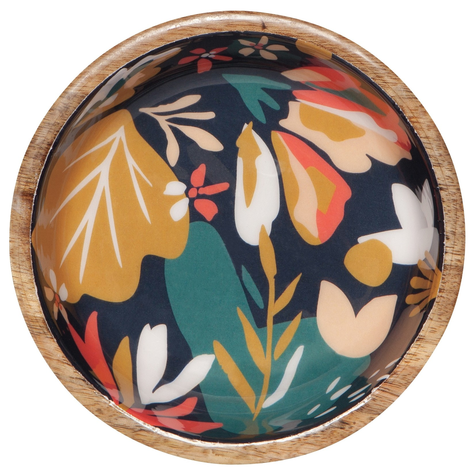 Danica Studio Mango Wood Shallow Bowl