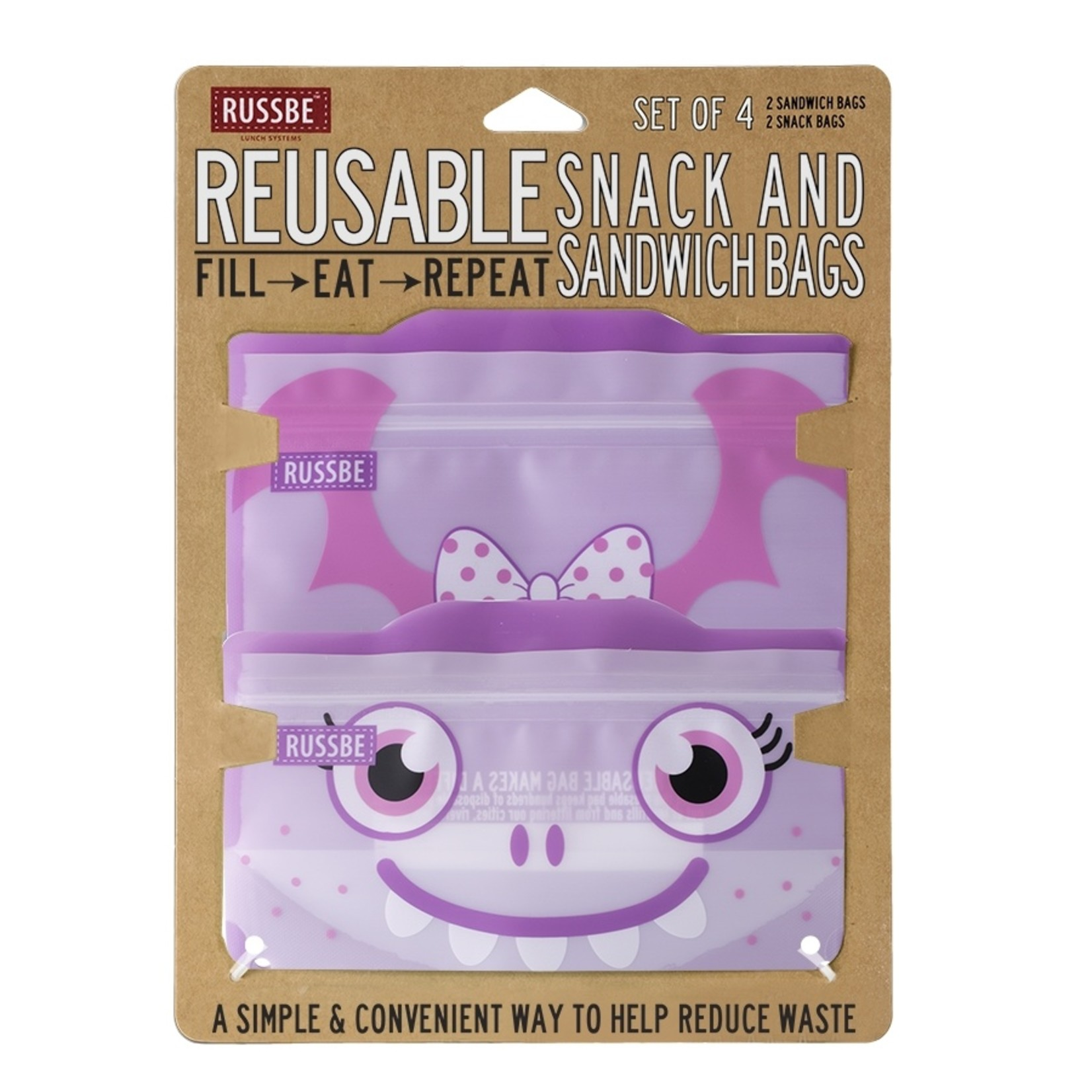 Russbe Reusable Snack & Sandwich Bag Set