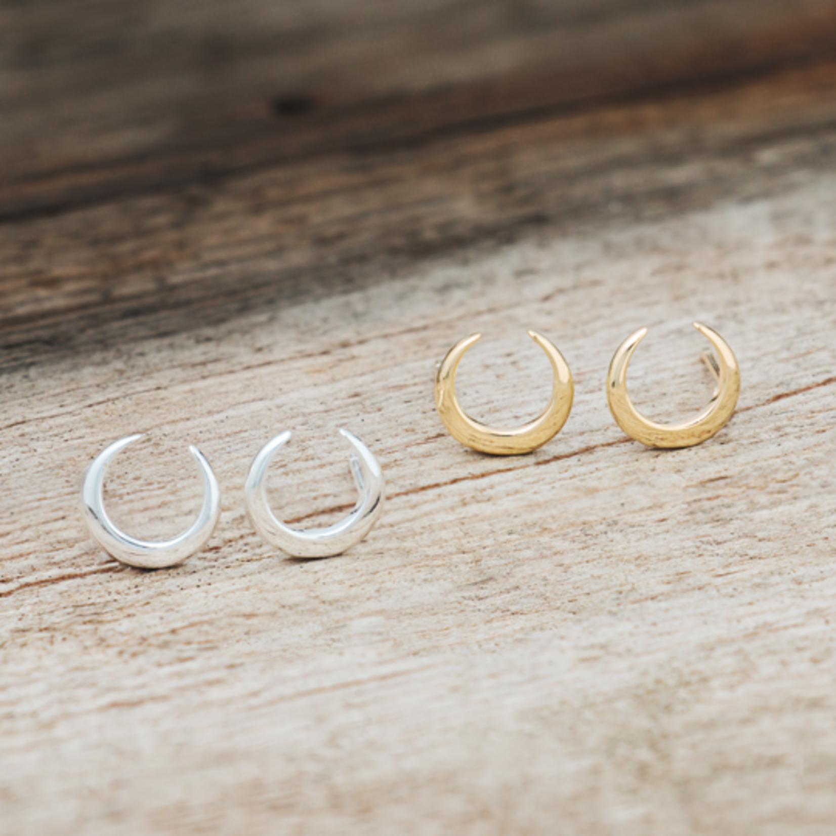 Glee Jewelry ~ Crescent Moon Studs