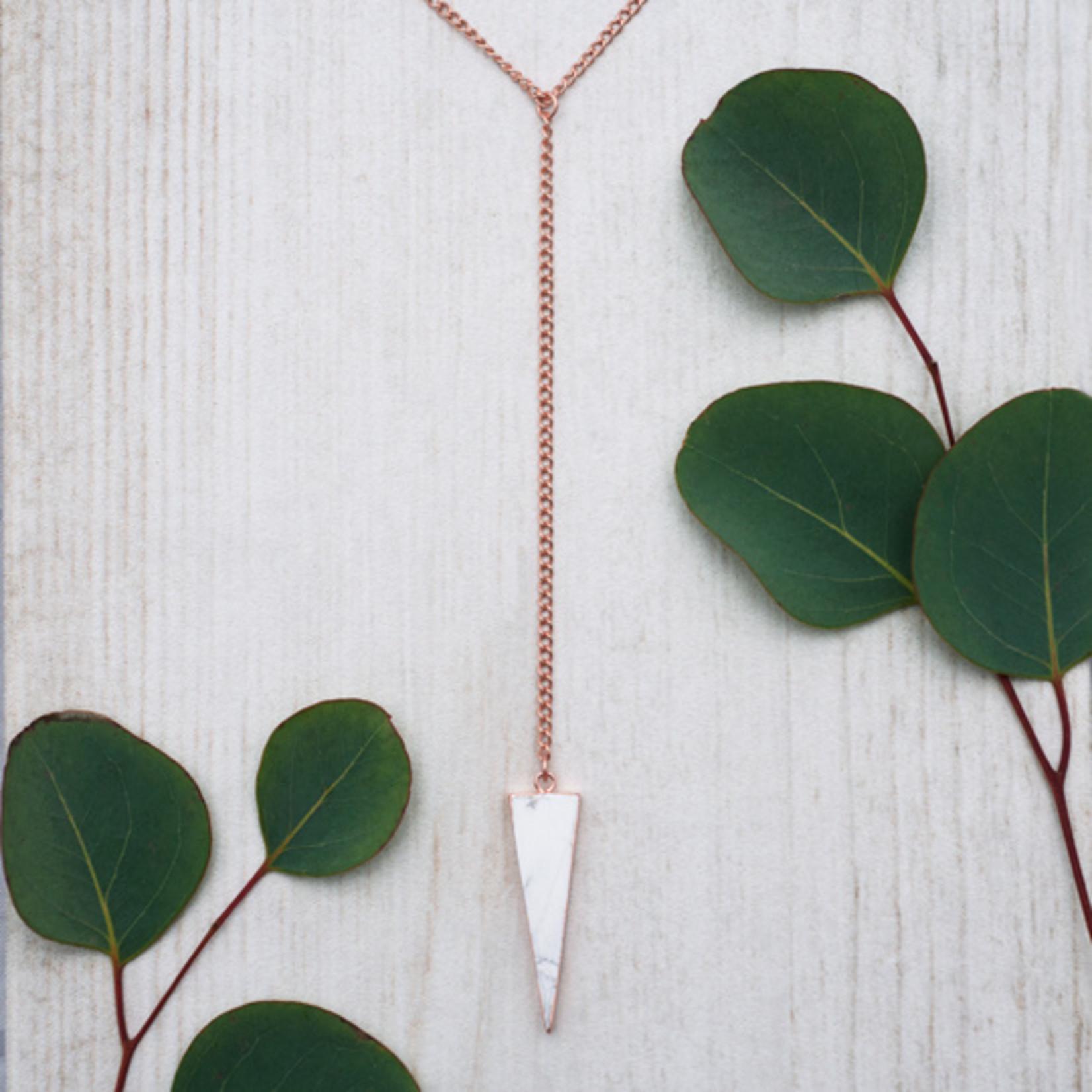Glee Jewelry ~  Howlite Vertex Necklace
