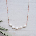 Glee Jewelry ~ White Pearl Elene Necklace