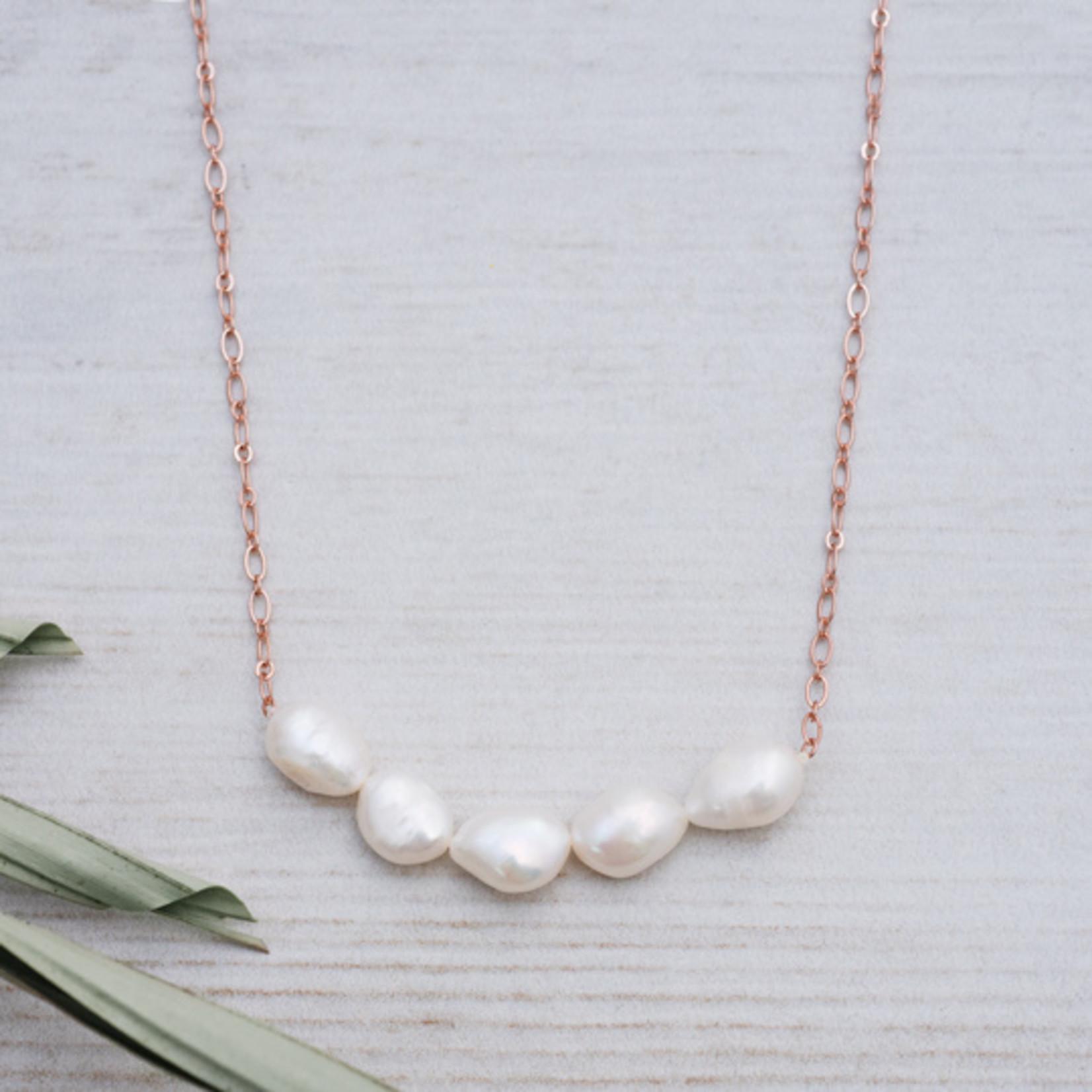 Glee Jewelry ~ White Pearl Elene Necklace